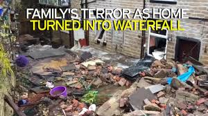 family u0027s terror as home turned into waterfall as devastating