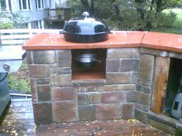 mounting a weber charcoal kettle in a counter bbq source forums