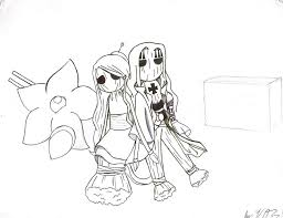 drawing of rin and basil hawkins as voodoo dolls by proxamina on