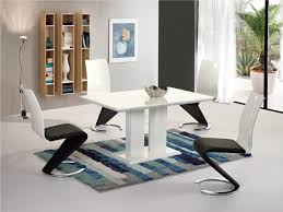 modern white high gloss dining table and 4 chairs set homegenies