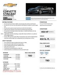 corvette c7 stingray specs corvette stingray produces 461 hp