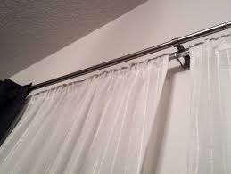 ikea double curtain rod review home design ideas