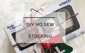 diy baby u0027s first stocking an easy diy no sew stocking perfect for