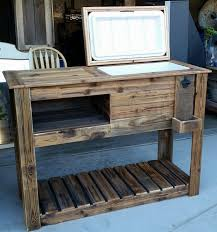 amusing brown rectangle modern wooden patio cooler stained design
