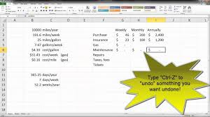 Auto Maintenance Spreadsheet Car Total Cost Of Ownership Spreadsheet Youtube