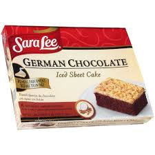 sara lee iced german chocolate sheet cake 12 x 16 inch 4 per