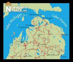 Michigan State Land Map by Northern Michigan Biking Snowmobiling Hiking U0026 Orv Trails Up