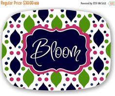 monogrammed platters and trays personalized melamine platter custom preppy monogram tray