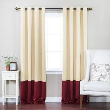 living room alluring color block curtains for elegant window