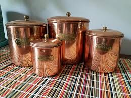copper kitchen canister sets benjamin medwin copper kitchen canisters set of 4 w lids