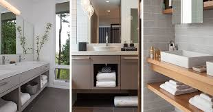 Bathromm Vanities 15 Examples Of Bathroom Vanities That Have Open Shelving