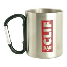 8 oz stainless steel coffee mug with carabiner handle item