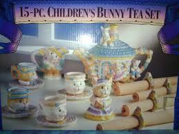 bunny tea set 15 children s bunny tea set 108 89