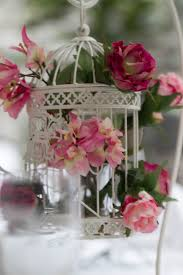 beautiful bird cage table centrepiece for the reception filled
