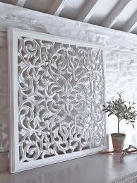 Large Bali Or Thai Carved Wood Wall Art Panel By SiamSawadee - Designer wall paneling