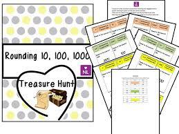 rounding nearest 10 100 100 treasure hunt by numberloving