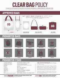 United Bag Policy Mississippi State Athletics