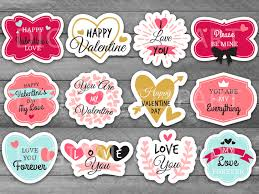 printable stickers valentines unique valentine s day printable label by holidaypartystar on