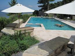 elegantly beautiful travertine pavers pool deck to feast your eyes