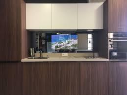 espace cuisine vendenheim aura crédence ecran tv miroir cuisine sur mesure ecrans tv