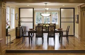 seattle room divider doors dining contemporary with ceiling