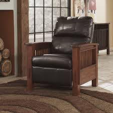 Brown Leather Recliner Chairs Recliner Chair Mission Style
