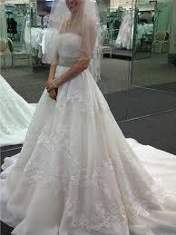 wedding dresses with sash ribbon a line princess wedding dresses ivory sleeveless with belt