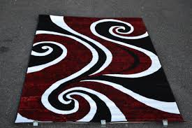 Round Rugs Modern by Rug Red And White Area Rug Wuqiang Co