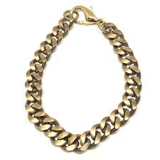 cuban chain link bracelet images Brass classic cuban chain link bracelet men 39 s bracelets lazaro jpg