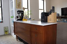 dresser kitchen island turn a dresser into a kitchen island with no tools once future