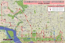 washington dc trolley map washington dc vector media