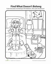 what doesn u0027t belong bedroom kindergarten games worksheets and