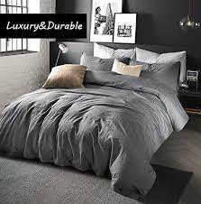 Chambray Duvet Cover Queen Amazon Com Doffapd Duvet Cover Queen Washed Cotton Duvet Cover