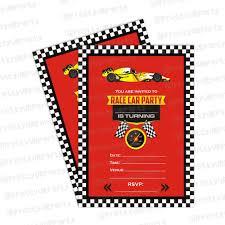 Diwali Invitation Cards For Party Race Car Theme Invitations Race Car Invites