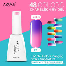 2016 azure nail gel uv make up changing color with temperature