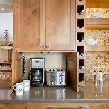 Small Kitchen Appliances Garage With Tiled Backsplash by Organize Small Kitchen Appliances Blue Utensil Holder Mosaic