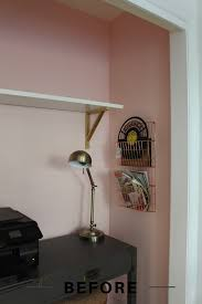 office nook inspo before and after goldalamode