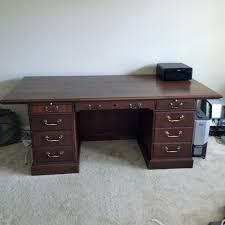 Solid Oak Office Desk Find More Solid Wood Office Desk 7 Drawer Cherry For Sale At Up