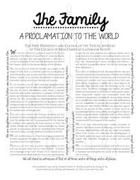 family proclamation the family a proclamation to the world with the women s