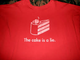 Cake Is A Lie Meme - portal the cake is a lie t shirt the best cake of 2018