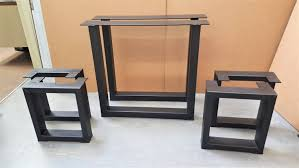 set of 2 square table legs and 4 square bench legs model tbtsq13