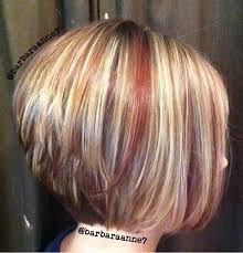 bolnde highlights and lowlights on bob haircut dimensional color highlights lowlights blonde red diagonal