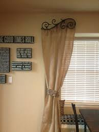 Curtains For Dining Room Windows by Burlap Curtains For The Home Pinterest Burlap Dining Room