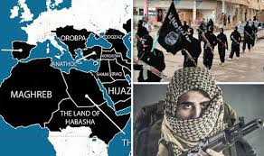 isis target black friday isis reveals map of europe showing areas it wants to dominate by