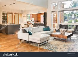 beautiful living room interior new luxury stock photo 360591503 beautiful living room interior in new luxury home with view of kitchen home interior with