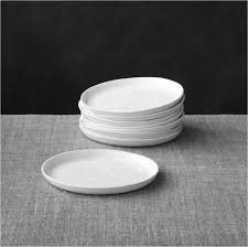 horderve plates set of 8 mercer appetizer plates crate and barrel