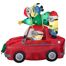 shop holiday living 7 38 ft x 4 26 ft lighted minion christmas