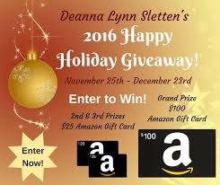 amazon black friday prize entry deanna lynn sletten 2016