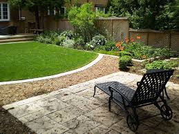 Landscaping Ideas For Large Backyards by Interesting Simple Square Backyard Landscaping Ideas Pics Design