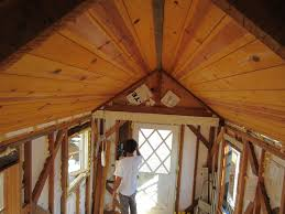 Tinyhouseblog by Paneling The Ceiling Candace And Aaron U0027s Tiny House Blog